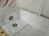 """Детское постельное белье в кроватку """"Вышивка Штурвал"""", фото 1"""