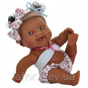 Кукла мулатка Девочка младенец Paola Reina Мюрель в цветастом, фото 2