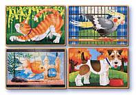 Домашние животные - набор из 4 пазлов