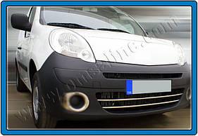 Накладки на передний бампер (2 шт, нерж) - Renault Kangoo (2008+/2013+)