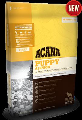 ACANA PUPPY & JUNIOR Біологічно відповідний корм для цуценят (вага дорослої собаки від 9 до 25 кг) 17кг