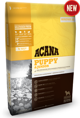 ACANA PUPPY & JUNIOR Биологически соответствующий корм для щенков (вес взрослой собаки от 9 до 25 кг) 2кг