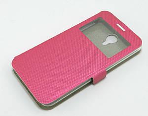 Чехол книжка для Meizu M2 Note боковой с окошком, Exclusive Star розовый