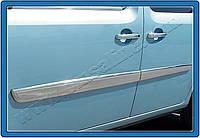 Молдинг дверной (2008-2011, 4 шт, нерж) - Renault Kangoo (2008+/2013+)