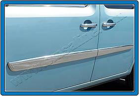 Молдинг дверной (2011- 2014, 4 шт, нерж) - Renault Kangoo (2008+)