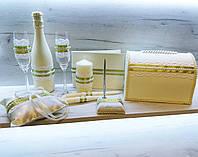 Набор аксессуаров для свадьбы в цветах айвори с оливковым