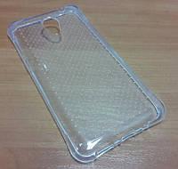 Чехол силиконовый бампер Meizu M2, M2 mini прозрачный