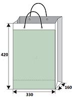 Бумажный крафт-пакет  33х16х42.
