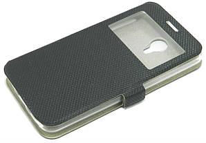 Чехол книжка для Meizu M2 Note боковой с окошком, Exclusive Star черный