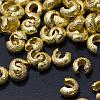 Бусины Крышки Кримпов из Латуни, Оболочки для Зажимных Бусин Стопперов, Цвет: Золото, Размер: 3.2х2.2мм, Отв. 1.2мм, 2г/около 40шт (УТ0012798)