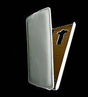 Чехол книжка для LG G3S BEAT D724, D722, D725, D728 вертикальный флип, Prestigious Белый