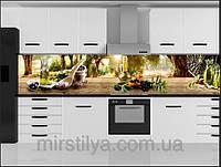 Стеклянный фартук для кухни - скинали Оливки маслины, фото 1