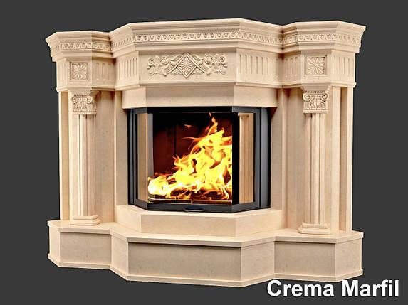 Портал для камина (облицовка) София из натурального мрамора Crema Marfil, фото 2