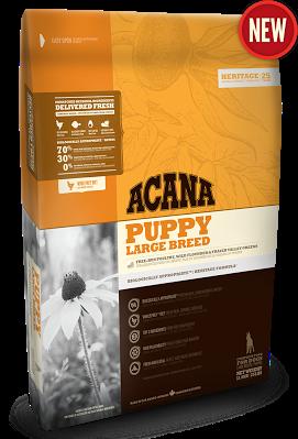 ACANA PUPPY LARGE BREED корм для цуценят великих порід( вага дорослої собаки більше 25 кг) 17кг