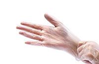 Перчатки, виниловые, смотровые, без пудры, нестерильные, L