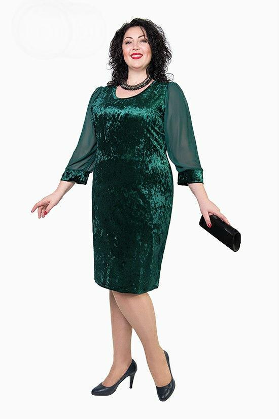 Нарядное женское платье больших размеров  продажа, цена в ... 5a06ace8146