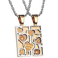 Парные кулоны для влюблённых Любовное послание 153227