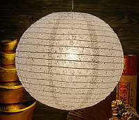 """Фонарь бумажный """"Мэй Хуа"""" белый (d = 39 см)"""