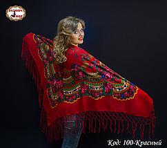 Українська червона хустка Цветущий сад, фото 2