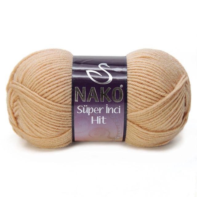 Турецкая пряжа нитки для вязания Nako Super Inci Hit