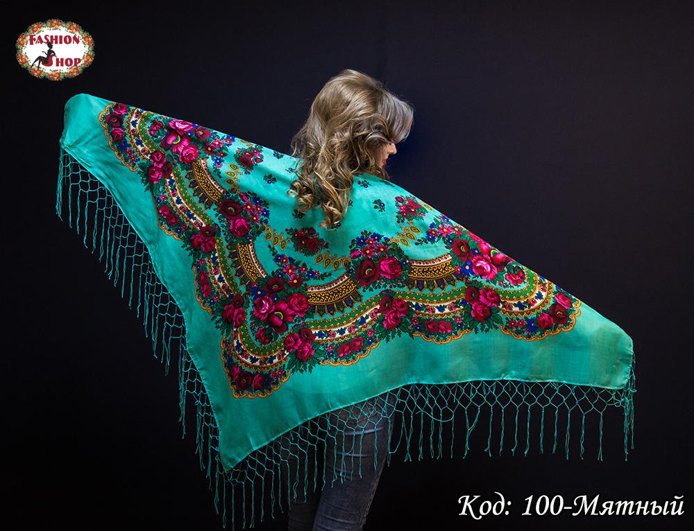 Украинский мятный платок Цветущий сад