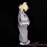 Кукла ручной работы для спонжиков и ватных палочек