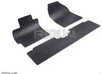 Автоковрики в салон RIGUM Toyota  Corolla 07 > Auris 07 black 4 шт , компл