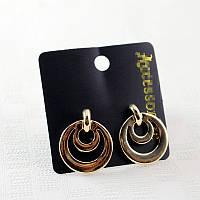Стильные женские золотистые серьги в форме кругов от Accessorize