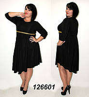 Платье сводобного ассиметричного кроя 48-56р