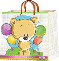 Подарочные пакеты для детей размер 16 х 16 см (12 шт. в упаковке)