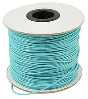 Шнур Вощеный Полиэстер, подходит для плетения браслетов, Цвет: Голубой, Размер: Толщина 1мм, (УТ000004814)