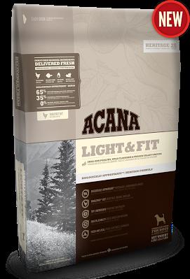 ACANA LIGHT & FIT Биологически соответствующий корм для взрослых собак с избыточным весом старше 1 года 2кг