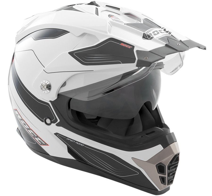 Шлем Rocc 771 weiß-schwarz L
