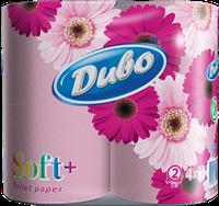 Туалетная бумага Диво soft розовая 4шт/уп.