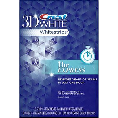 Crest 3D White Whitestrips 1hr Express (8 strips)