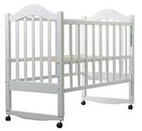 Детская кроватка Дина белая