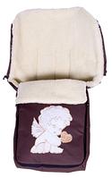Зимний конверт Qvatro , №8 с апликацией, коричневый (ангелочек с сердцем)