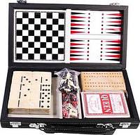 Набор настольных игр 6 в 1: карты, домино, шахматы, шашки, кости, нарды Duke MUT06004