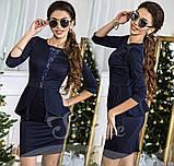 Платье с баской, размеры 42; 44; 46  код 469Р, фото 5