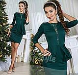 Платье с баской, размеры 42; 44; 46  код 469Р, фото 9