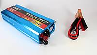 Автомобильный инвертор с чистой синусоидой AC/DC 600W: 220V, евро розетка, USB порт, вентилятор