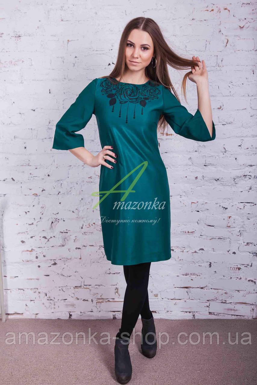Женское нарядное платье от производителя с принтом - новый год 2018 - Код пл-108