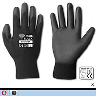 Перчатки рабочие Pure Black,полиуретан,размер 8(М)