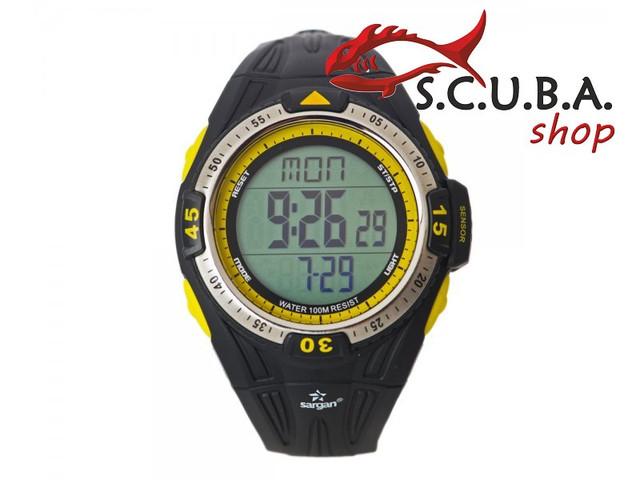 """Часы-глубиномер подводные SARGAN """"Вектор 100м"""""""