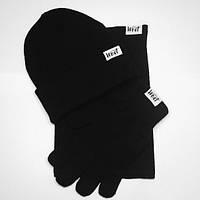 Подарочный Наборы Комплект шапка+баф+перчатки West - Classic Black(Унисекс\Мужской\Женский)