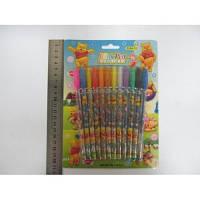Набір гелевих ручок в блістері 12 кольорів Вінні Пух з блискітками JO F-001-12W