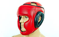 Шлем боксерский с полной защитой Стрейч Лев LV-4294-R