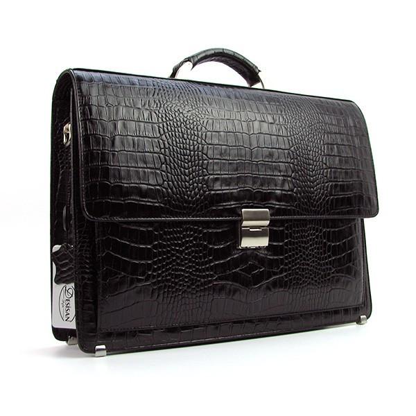 Портфель кожаный мужской черный классический Desisan 216-11 Турция