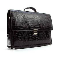 Портфель кожаный мужской черный классический Desisan 216-11 Турция, фото 1