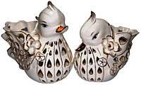 Статуэтки, вазы уточки мандаринки из фарфора, 210х210х130, цена за пару